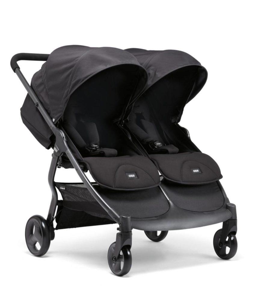 Mamas & Papas Armadillo - Black Jack - Twin Stroller