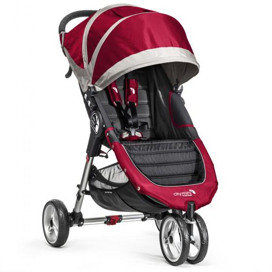 Baby Jogger - City Mini - Crimson - 3 wheeled Stroller